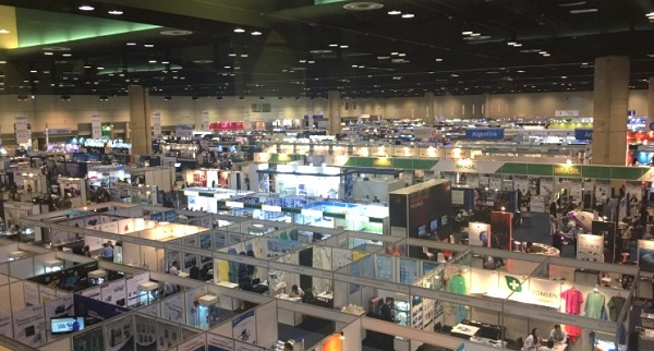 Exhibit hall representing trade shows